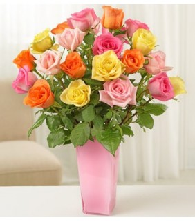 Long Stem Multicolored Roses
