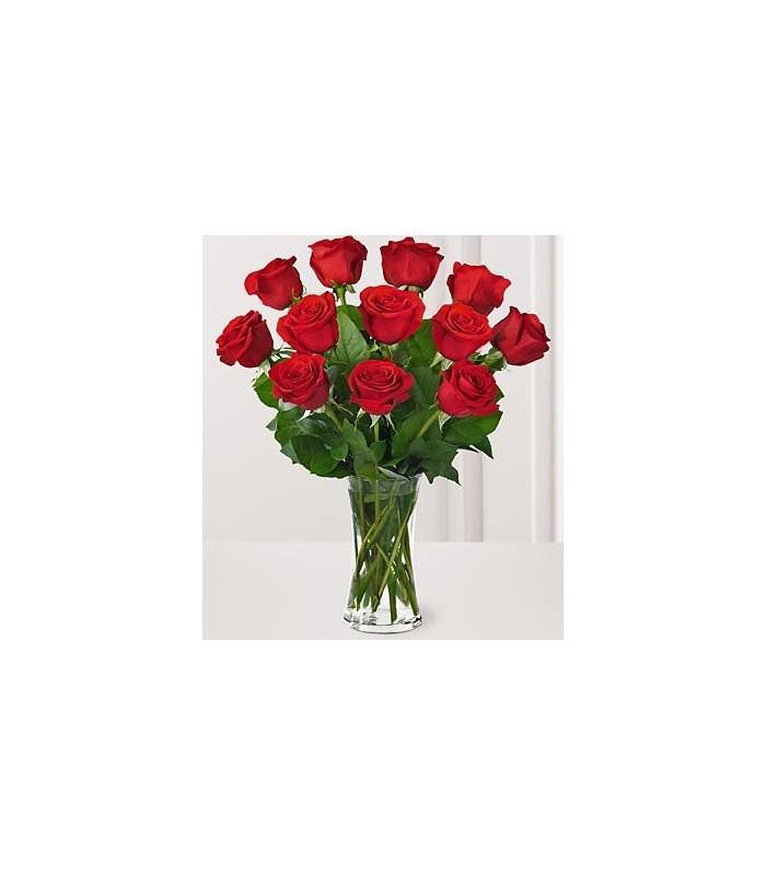 Premium Red Rose Bouquet with Vase