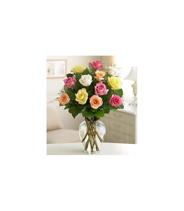 Long Stem Assorted Roese