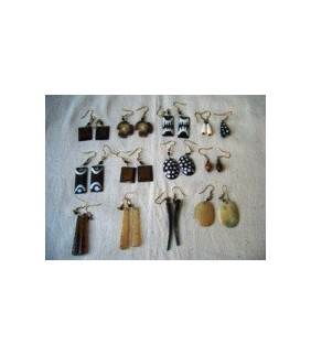 Assorted African ear rings