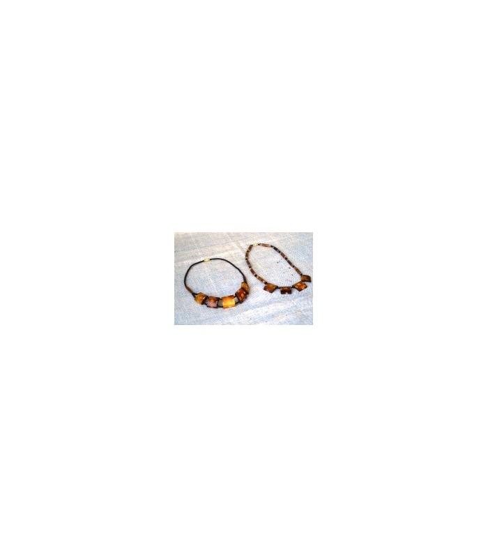 Flat Bone Necklaces from Uganda