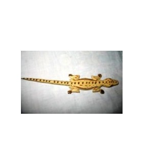 African Wooden Toy Lizard from Uganda Toys