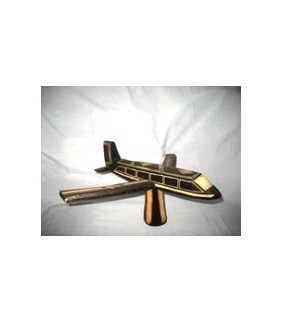 African Wooden Toy Plane from Uganda