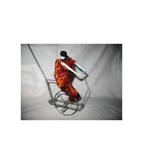 African wire crafted Bicycle Man from Uganda