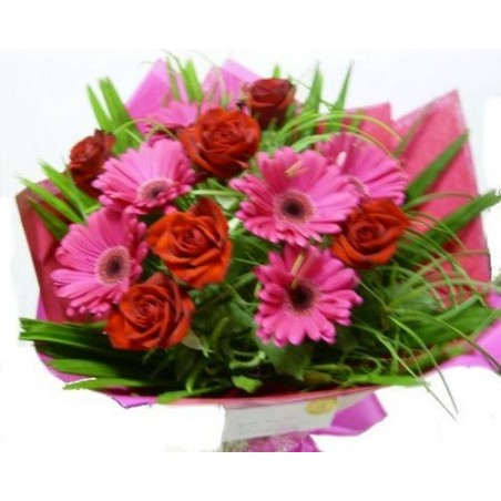 Gerberas and Roses bouquet