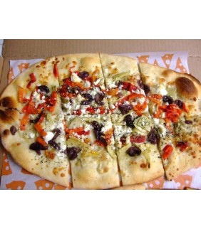 Olives, Feta Cheese & Tomato with Olive & Garlic