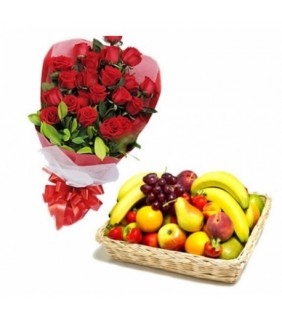 ZINGA RED ROSES BASKET SPECIAL