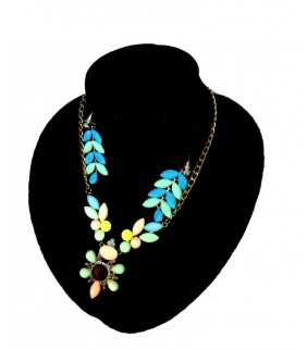 Blue Shine Flower Necklace