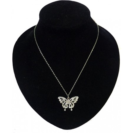 Butterfly Sliver  Necklace