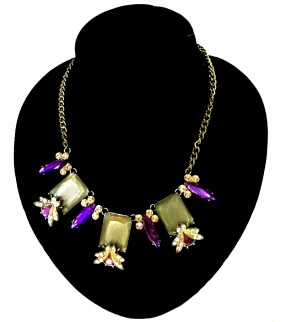 Purple Shine Flower Necklace Gift