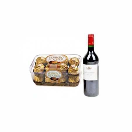 Angie Chocolate Wine Gift Hamper