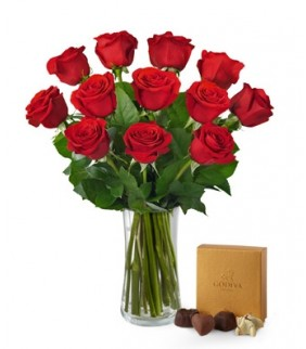JNS Red Rose Bouquet with chocolate Love