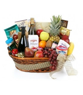 Gourmet Uganda Fruit & Wine Basket