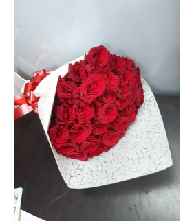 24 Red Roses Stems Bouquet