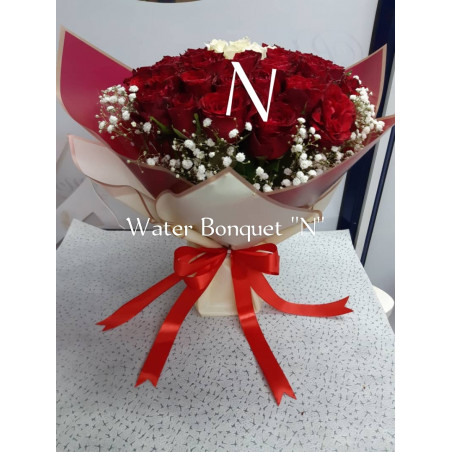 Red Roses Water Bouquet