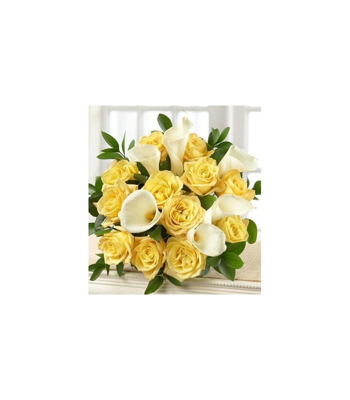 Yellow rose and white calla lily uganda flowers and gifts yellow rose and white calla lily mightylinksfo